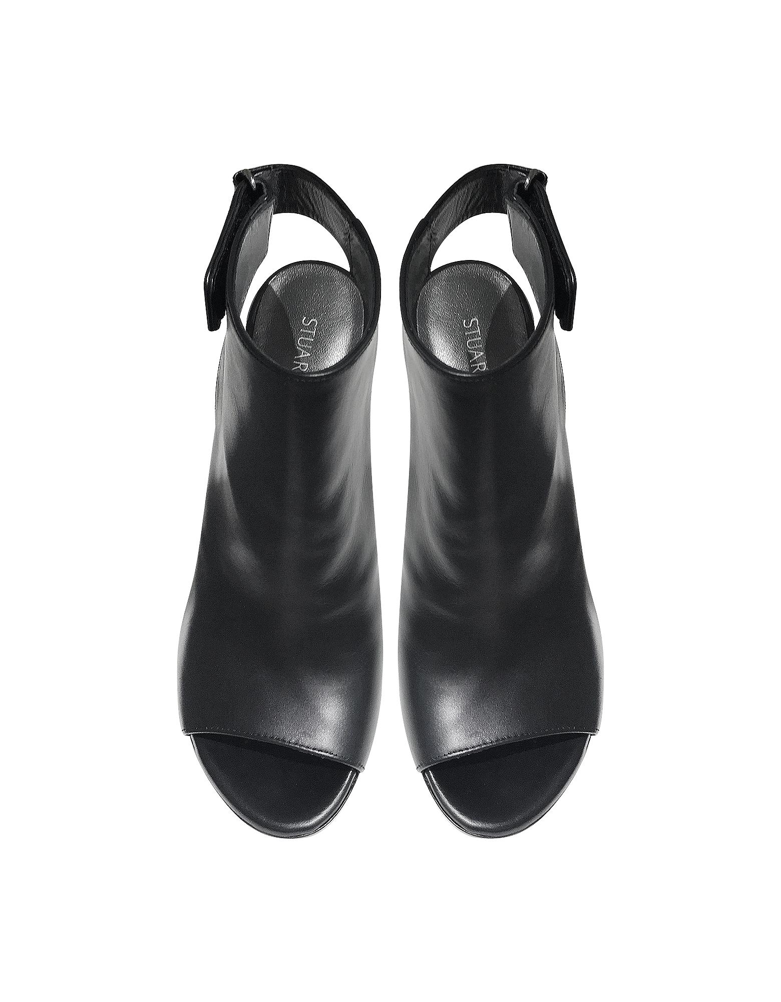 Opendoor Black Nappa Peep-toe Booties от Forzieri INT