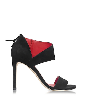 Getonup Black Suede Sandals