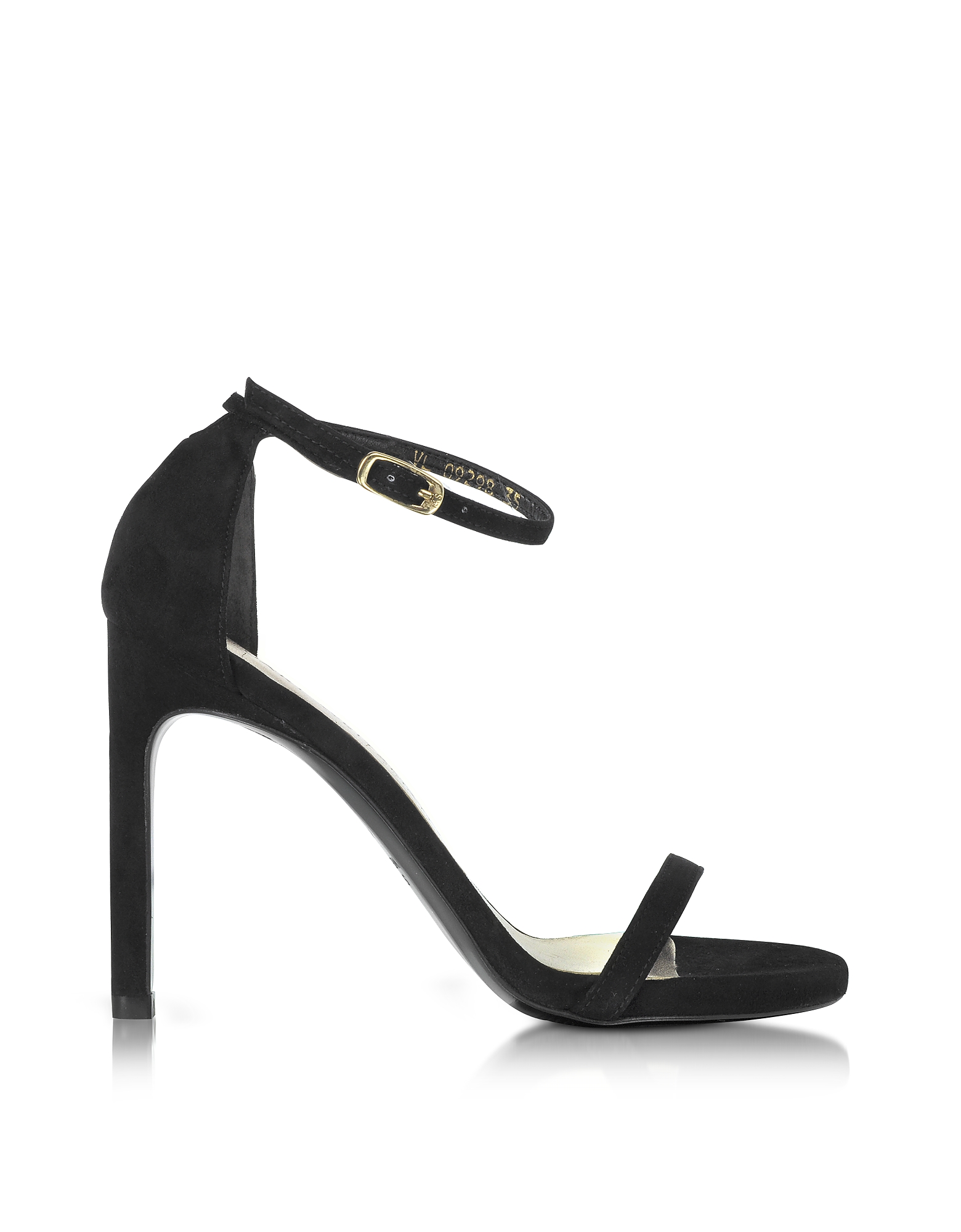 Stuart Weitzman Shoes, Nudistsong Black Suede High Heel Sandals