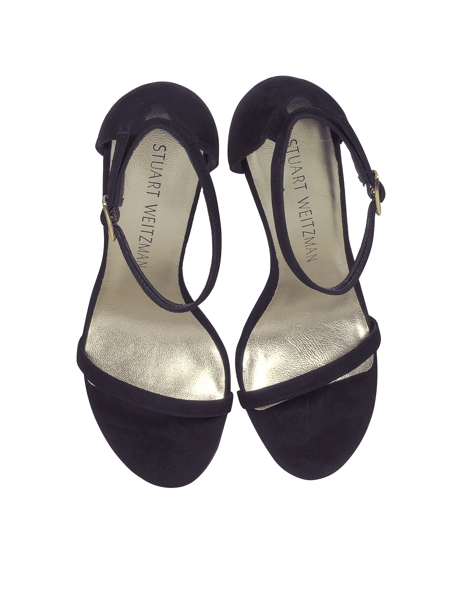 Nudistsong Black Suede High Heel Sandals от Forzieri.com INT