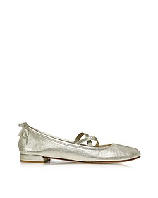 Bolshoi Pearl Washed Nappa Leather Ballerina - Stuart Weitzman