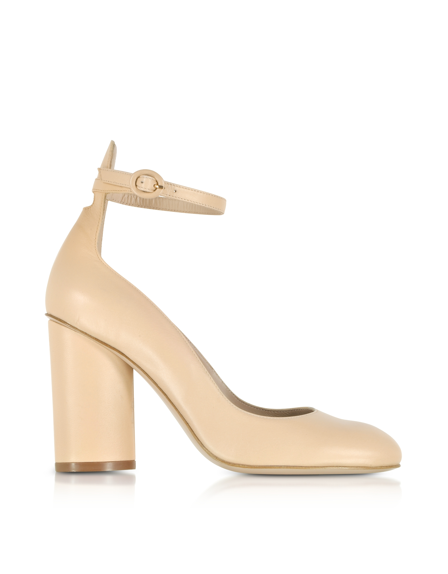 Pasadena Blush Leather Heel Pumps