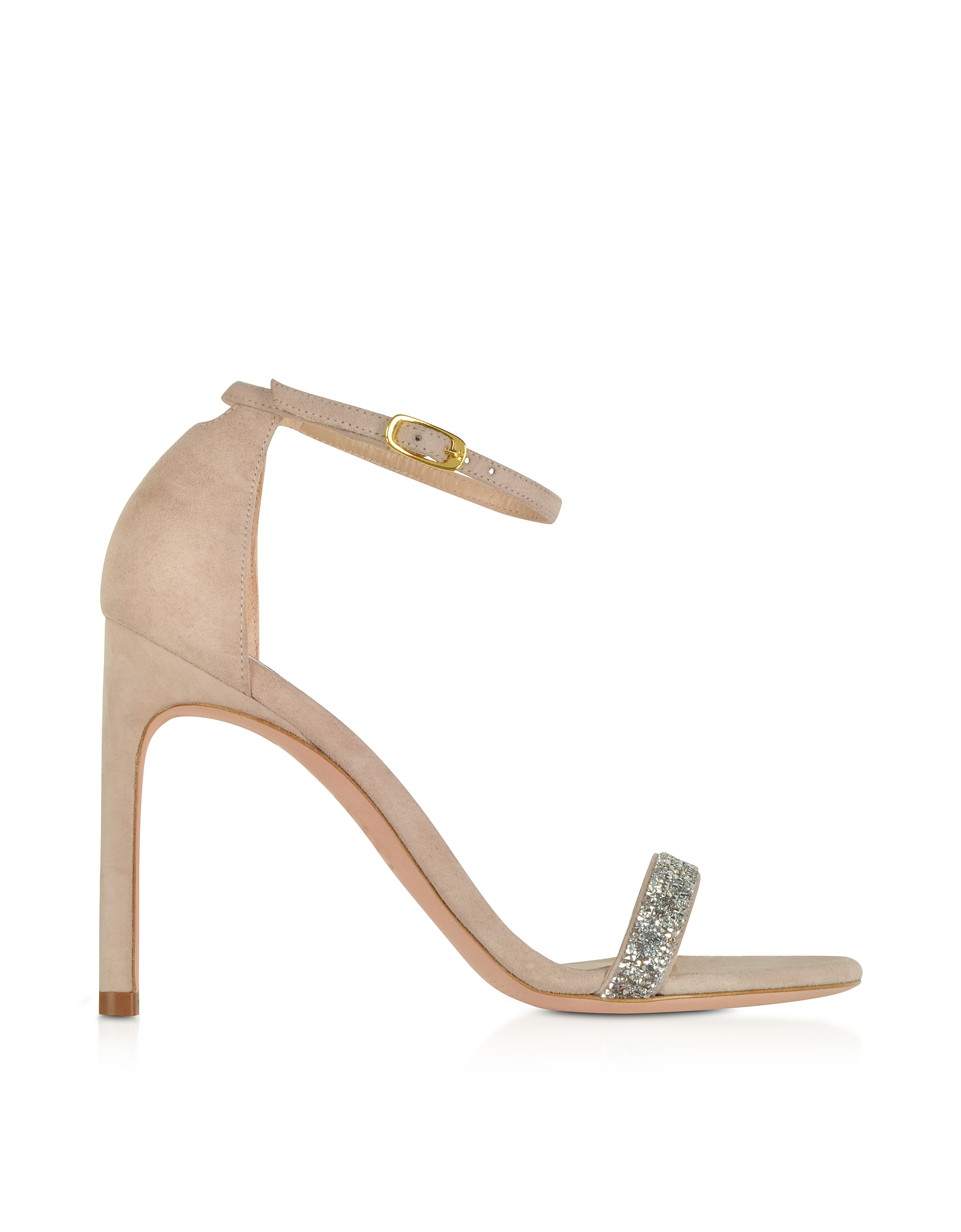 Nudistsong Suede and Crystals High Heel Sandals