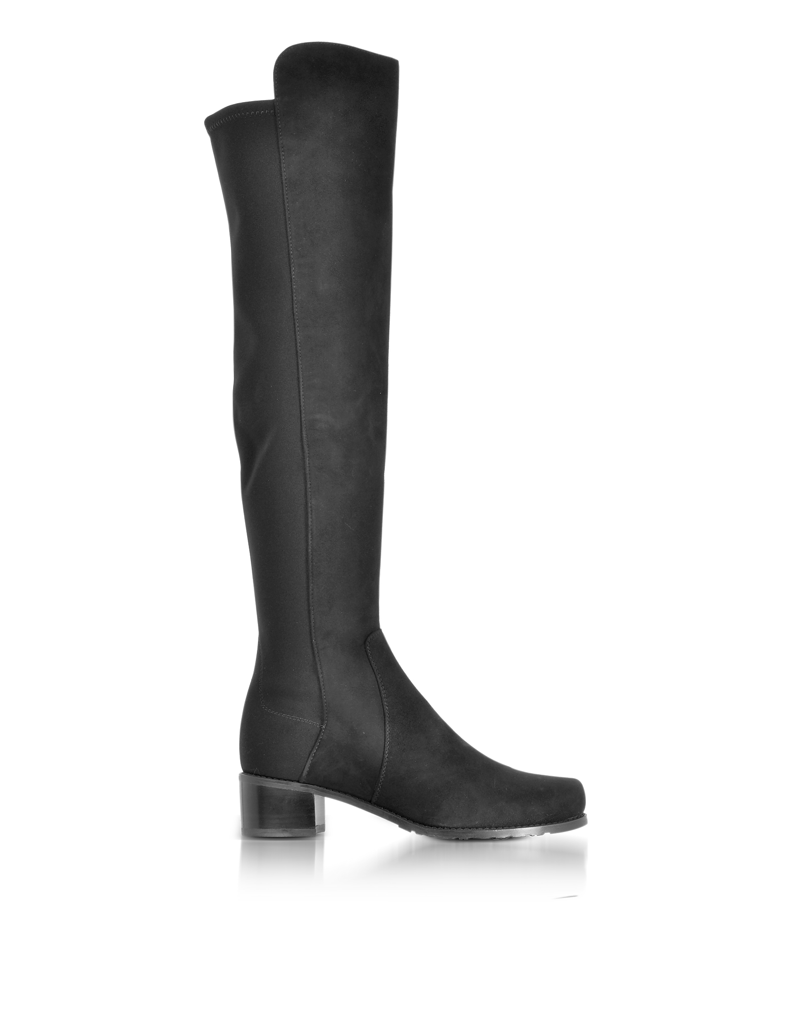 Stuart Weitzman Shoes, Reserve Black Suede and Micro Stretch Fabric Over The Knee Boots