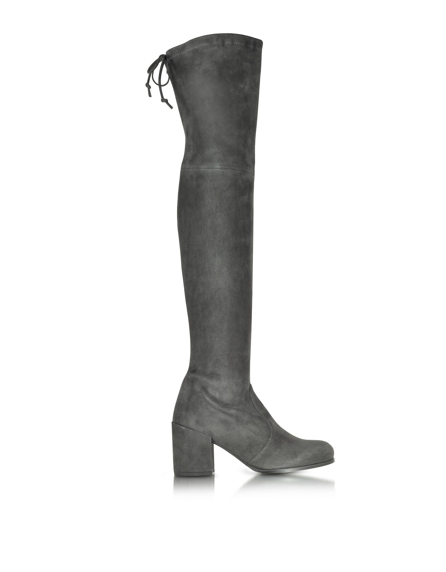 Stuart Weitzman Shoes, Tieland Asphalt Suede Boots