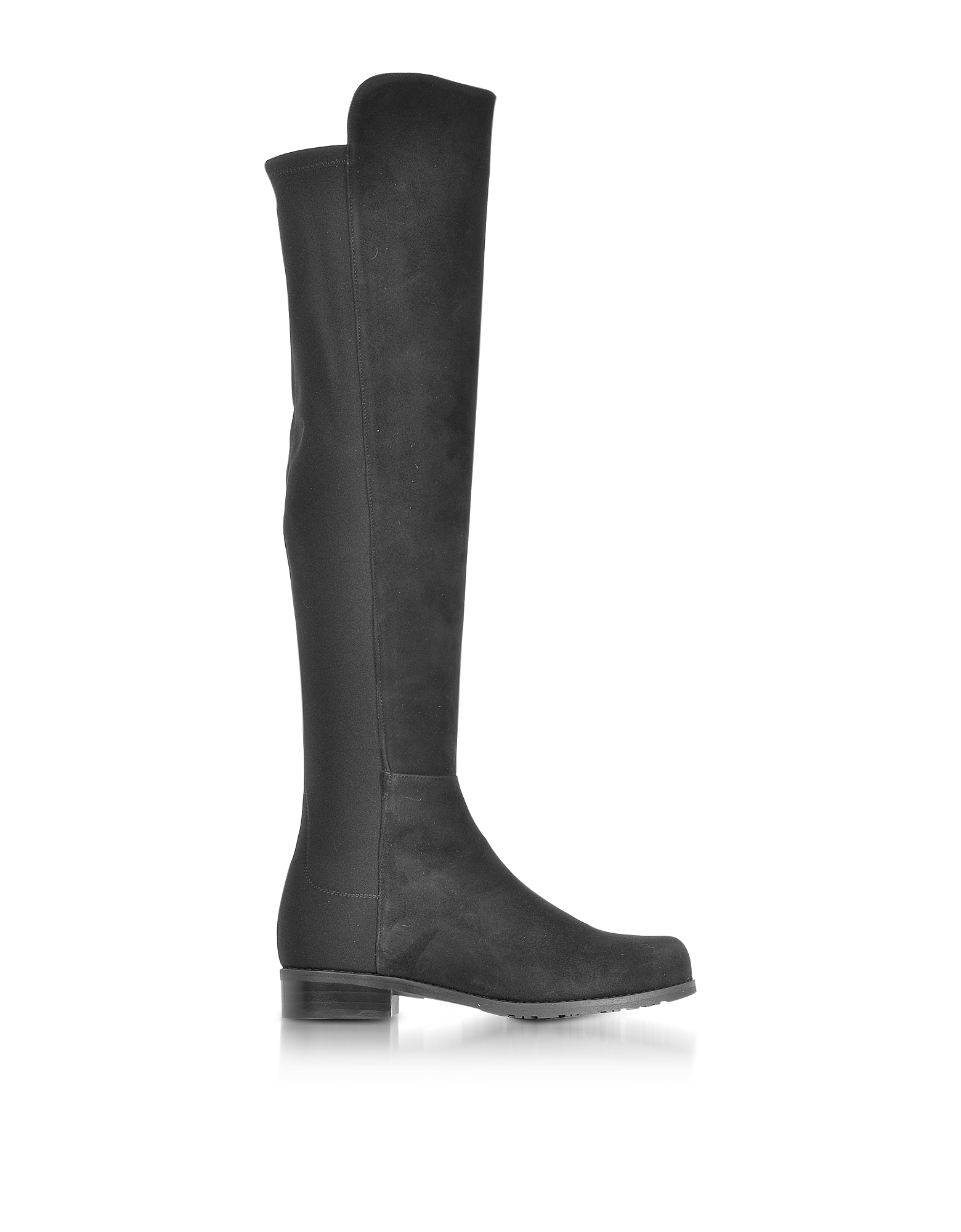Stuart Weitzman Shoes, 5050 Black Suede and Stretch Fabric Over The Knee Boots