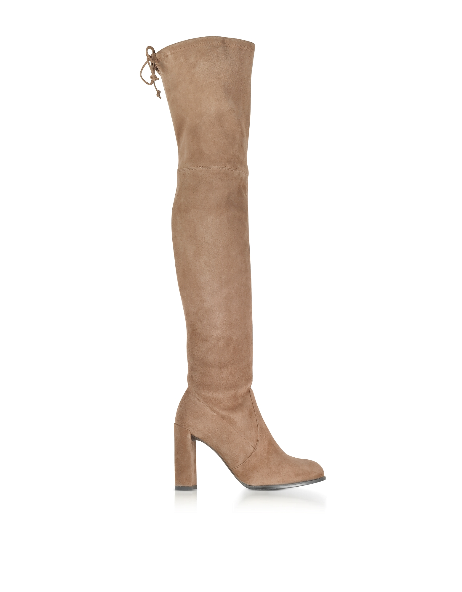 Stuart Weitzman Hiline Nutmeg Suede Heel Over The Knee Boots