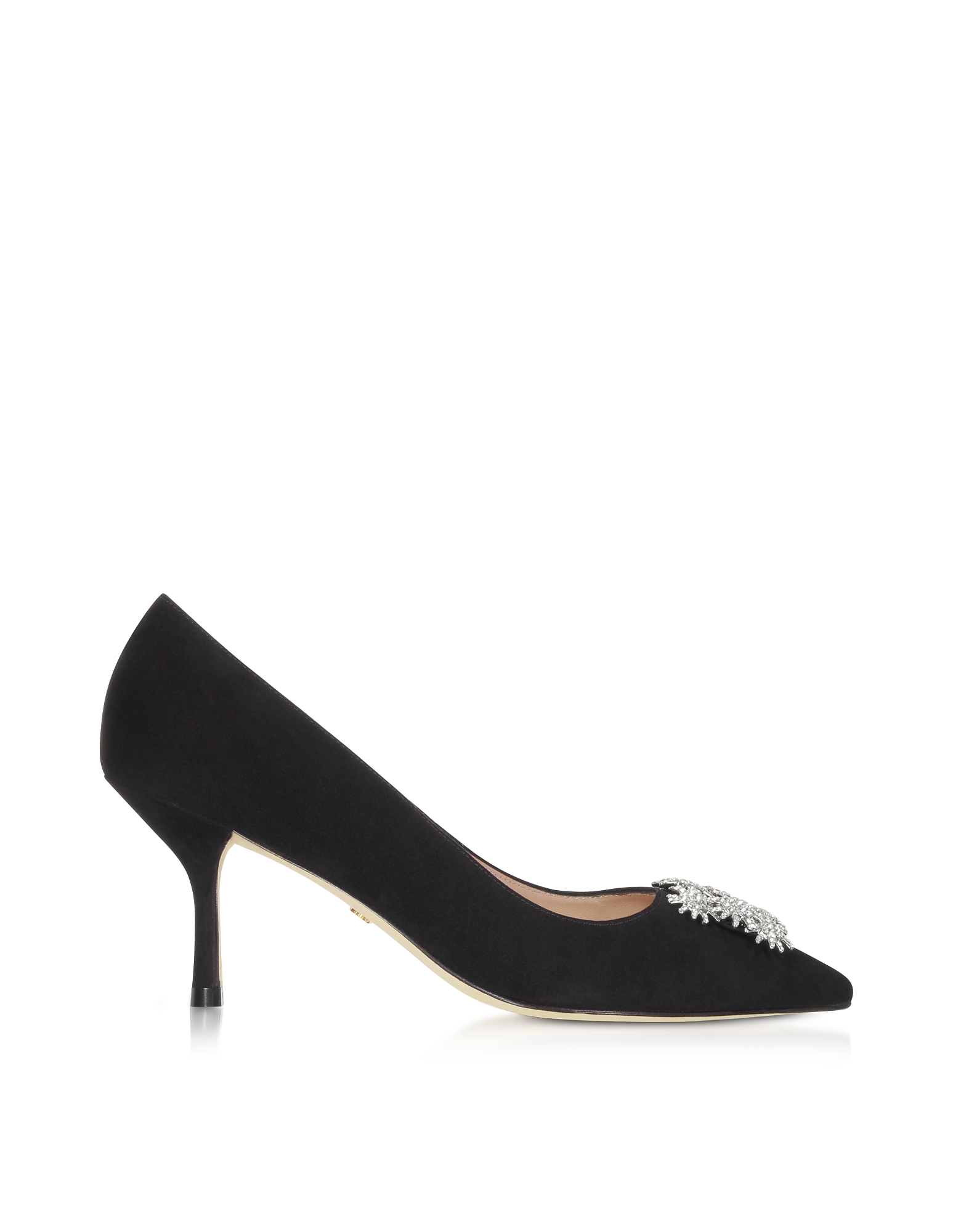 Black Suede Kelsey 75 Pumps