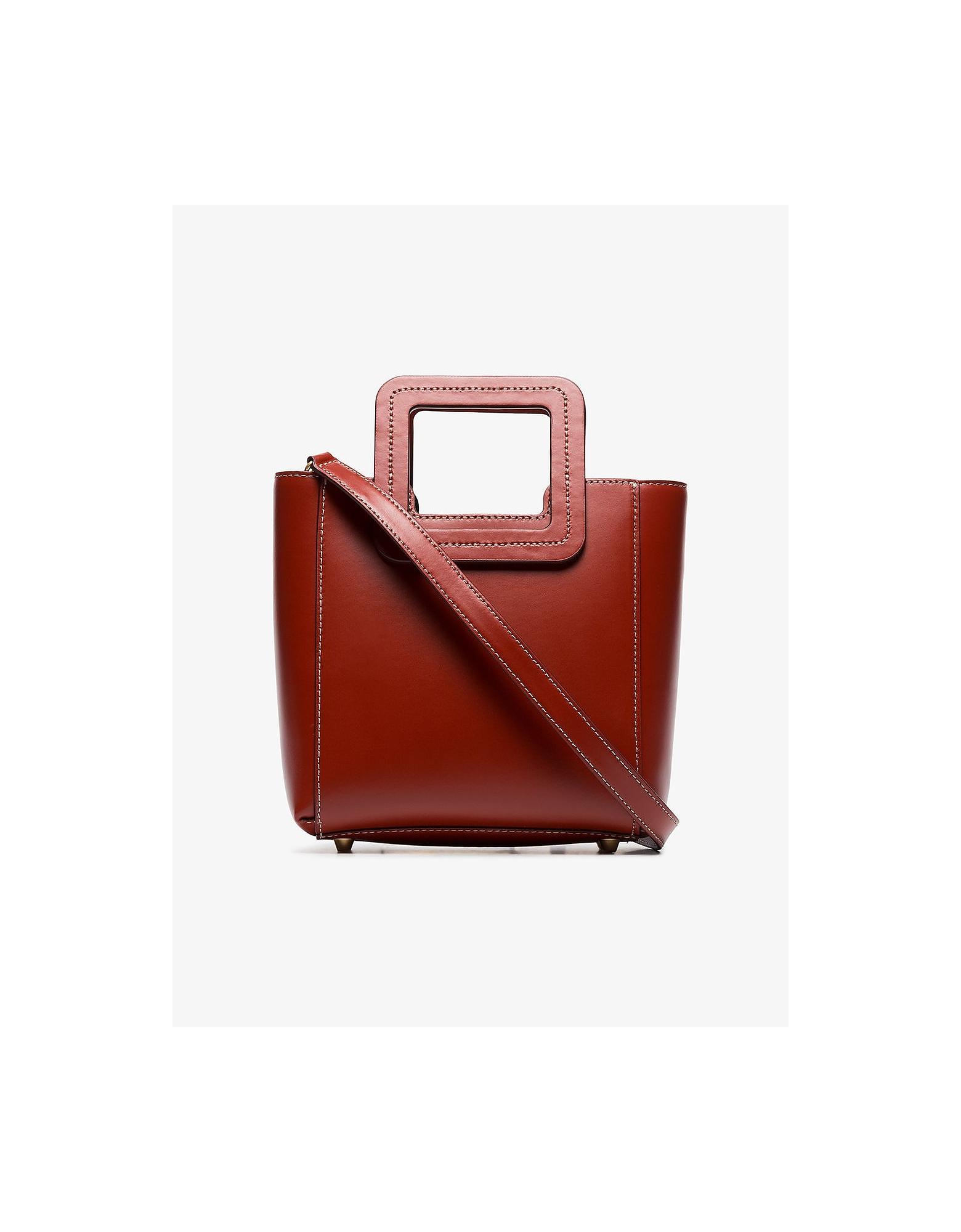 Staud Designer Handbags, Mini Shirley Leather Bag