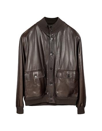 Schiatti & Co. - Men's Dark Brown Leather Jacket w/Chasmere Lining