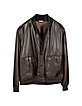 Men's Dark Brown Leather Jacket w/Chasmere Lining - Schiatti & Co.