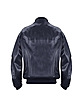 Men's Dark Blue Italian Nappa Leather Two-Pocket Jacket - Schiatti & Co.