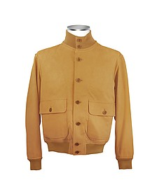 Men's Biscuit Italian Suede Two-Pocket Jacket - Schiatti & Co.