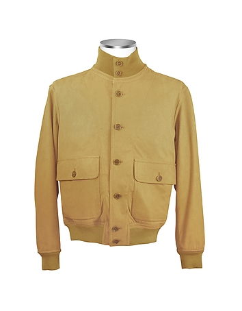 Schiatti & Co. - Men's Sand Italian Suede Two-Pocket Jacket