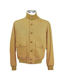 Men's Sand Italian Suede Two-Pocket Jacket - Schiatti & Co.