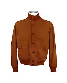 Men's Chocolate Brown Italian Suede Two-Pocket Jacket - Schiatti & Co.