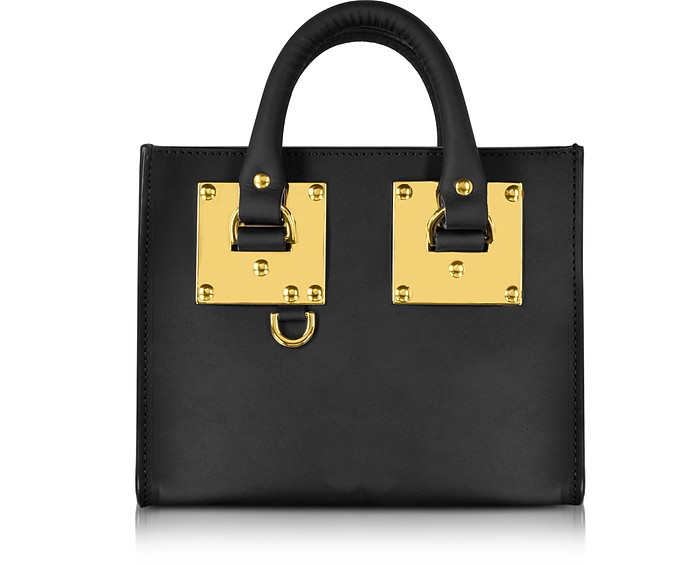 Black Leather Albion Box Tote Bag - Sophie Hulme