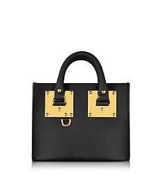 Black Leather Albion Box Tote Bag - Sophie Hulme