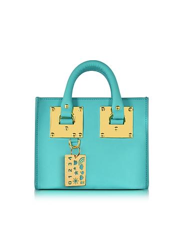 Sophie Hulme - Aqua Leather Albion Box Tote Bag