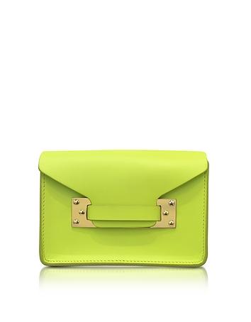 Chartreuse Milner Saddle Leather Nano Envelope Bag
