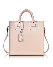 Blossom Pink Albion Saddle Leather Square Tote - Sophie Hulme