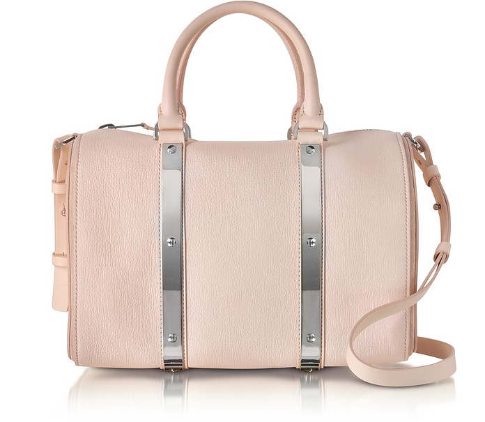 Blossom Pink Charlton Leather Medium Bowling Bag - Sophie Hulme