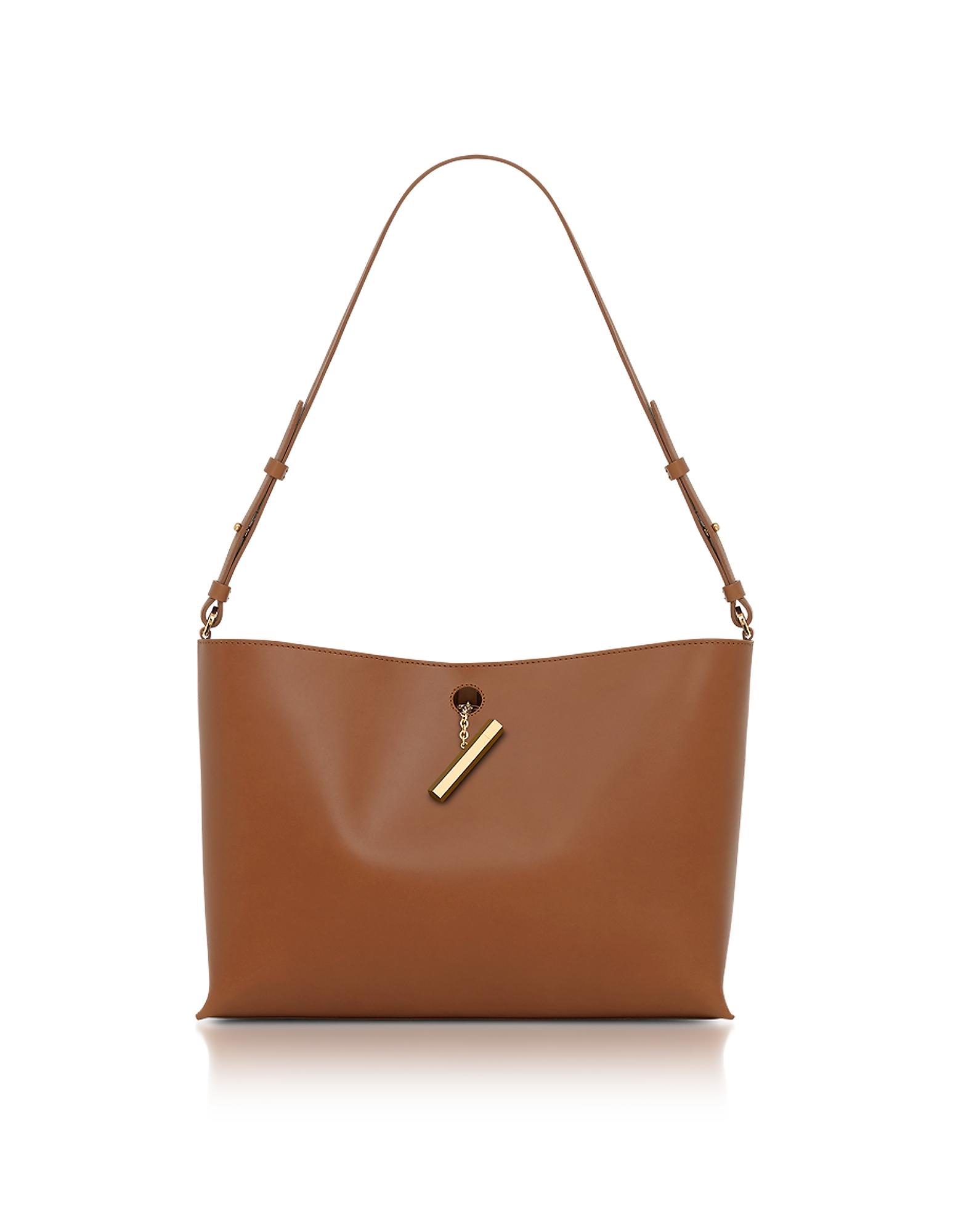 Sophie Hulme Handbags, Tan Medium Pinch Shoulder Bag