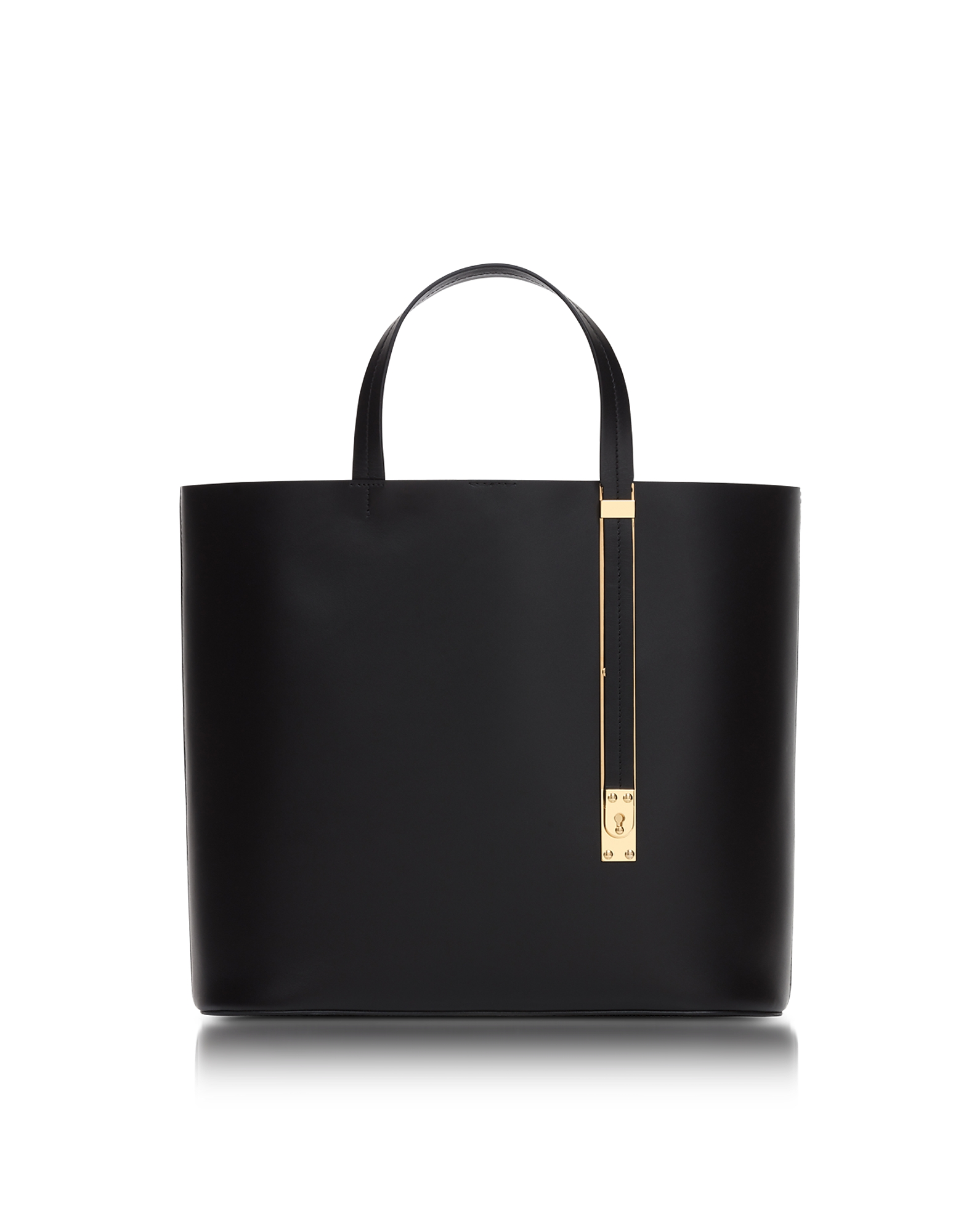 Sophie Hulme Handbags, Black Soft East West Exchange Tote