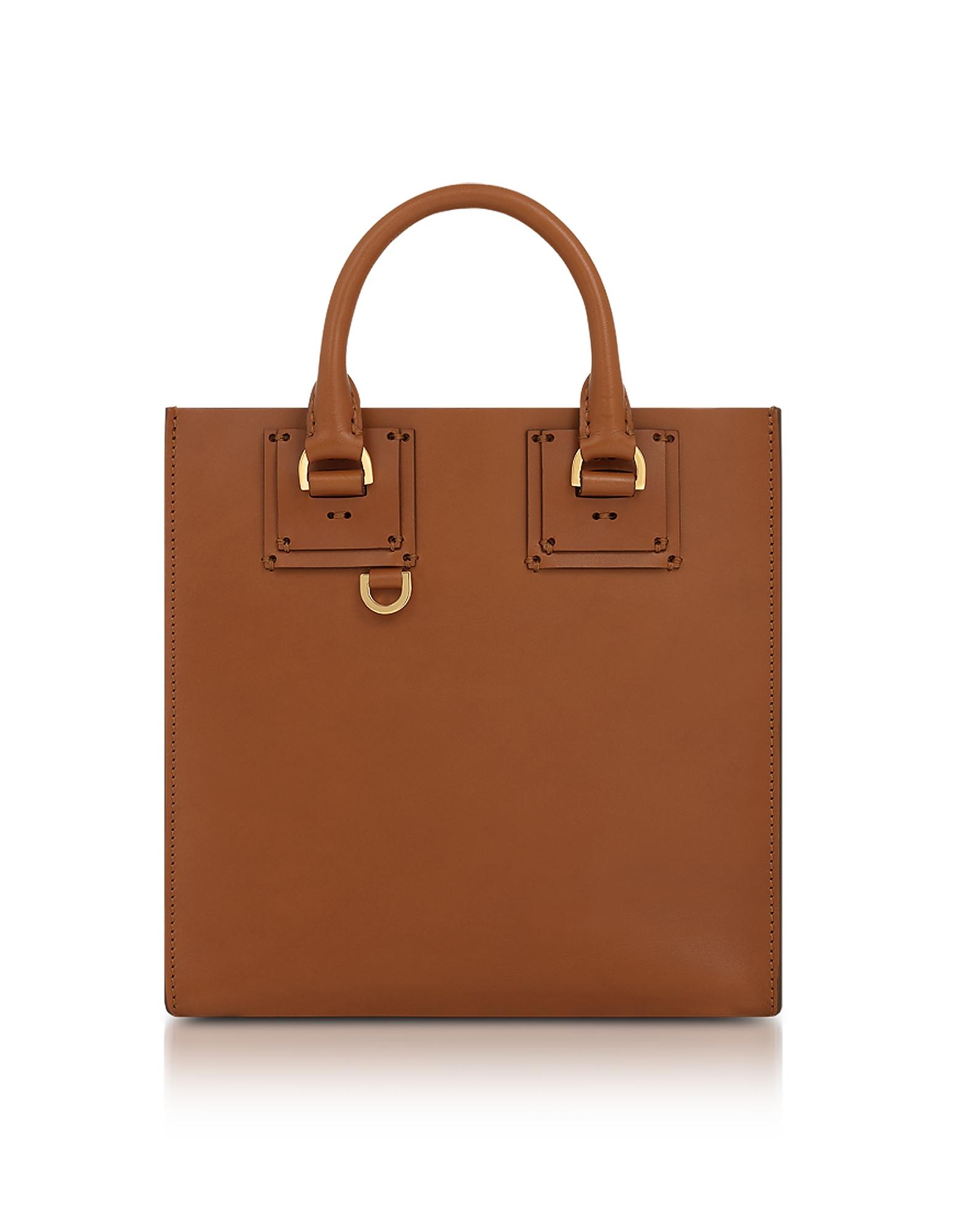 Sophie Hulme Handbags, Tan Albion Square Tote