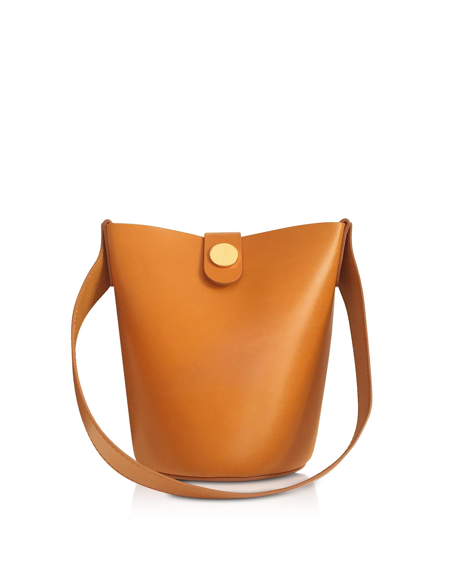 Sophie Hulme Handbags, Shiny Saddle Leather Nano Swing Bag