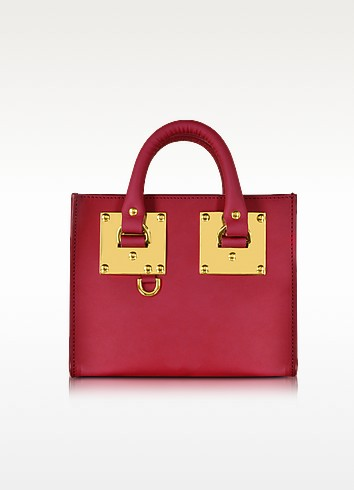 Cherry Red Leather Albion Box Tote Bag  - Sophie Hulme