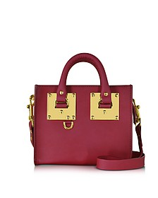 Cherry Red Albion Saddle Leather Box Tote Bag - Sophie Hulme