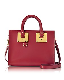 Cherry Red Albion Saddle Leather Medium Tote Bag - Sophie Hulme