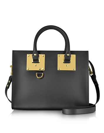 Sophie Hulme - Black Albion Saddle Leather Medium Tote Bag