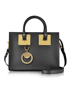 Black Albion Saddle Leather Medium Tote Bag - Sophie Hulme