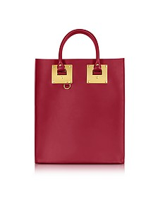 Cherry Red Saddle Leather Albion Mini Tote Bag - Sophie Hulme