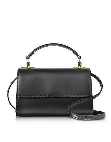 Sophie Hulme - Black Leather Parker Nano Crossbody Bag