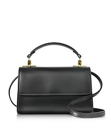 Black Leather Parker Nano Crossbody Bag - Sophie Hulme
