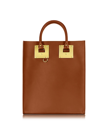 Tan Saddle Leather Albion Mini Tote Bag