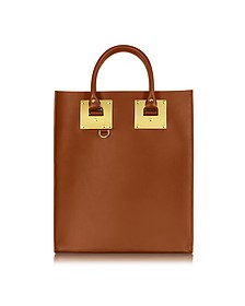 Tan Saddle Leather Albion Mini Tote Bag - Sophie Hulme