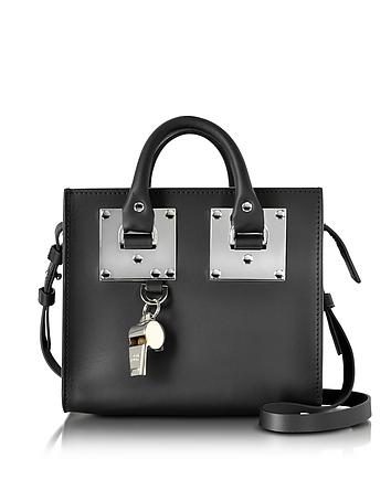 Black Saddle Leather Albion Box Tote Bag
