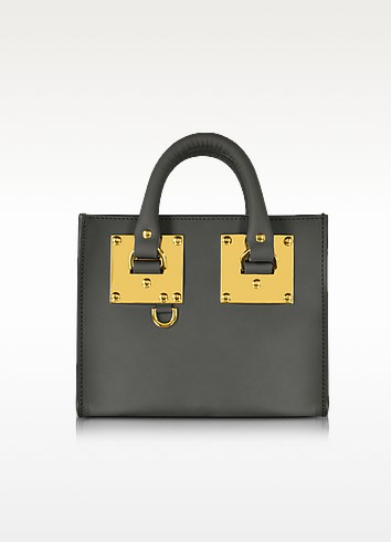 Charcoal Saddle Leather Albion Box Tote Bag - Sophie Hulme