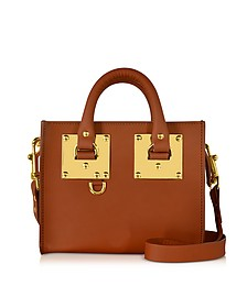 Tan Saddle Leather Albion Box Tote Bag - Sophie Hulme