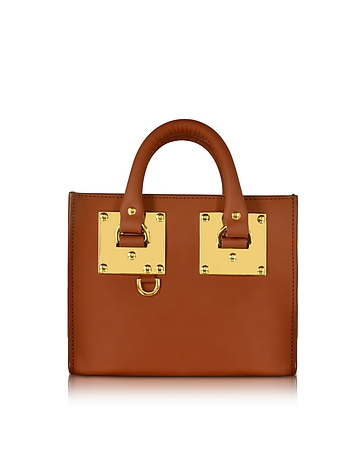 Sophie Hulme - Tan Saddle Leather Albion Box Tote Bag