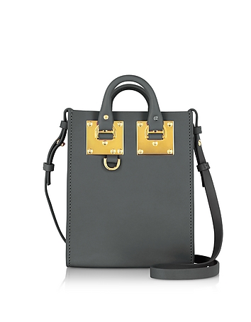 Sophie Hulme - Charcoal Saddle Leather Albion Nano Tote Bag