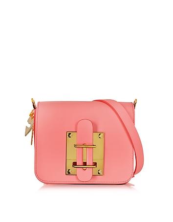 Darwin Bright Pink Saddle Leather Small Crossbody Bag
