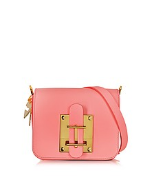 Darwin Bright Pink Saddle Leather Small Crossbody Bag - Sophie Hulme