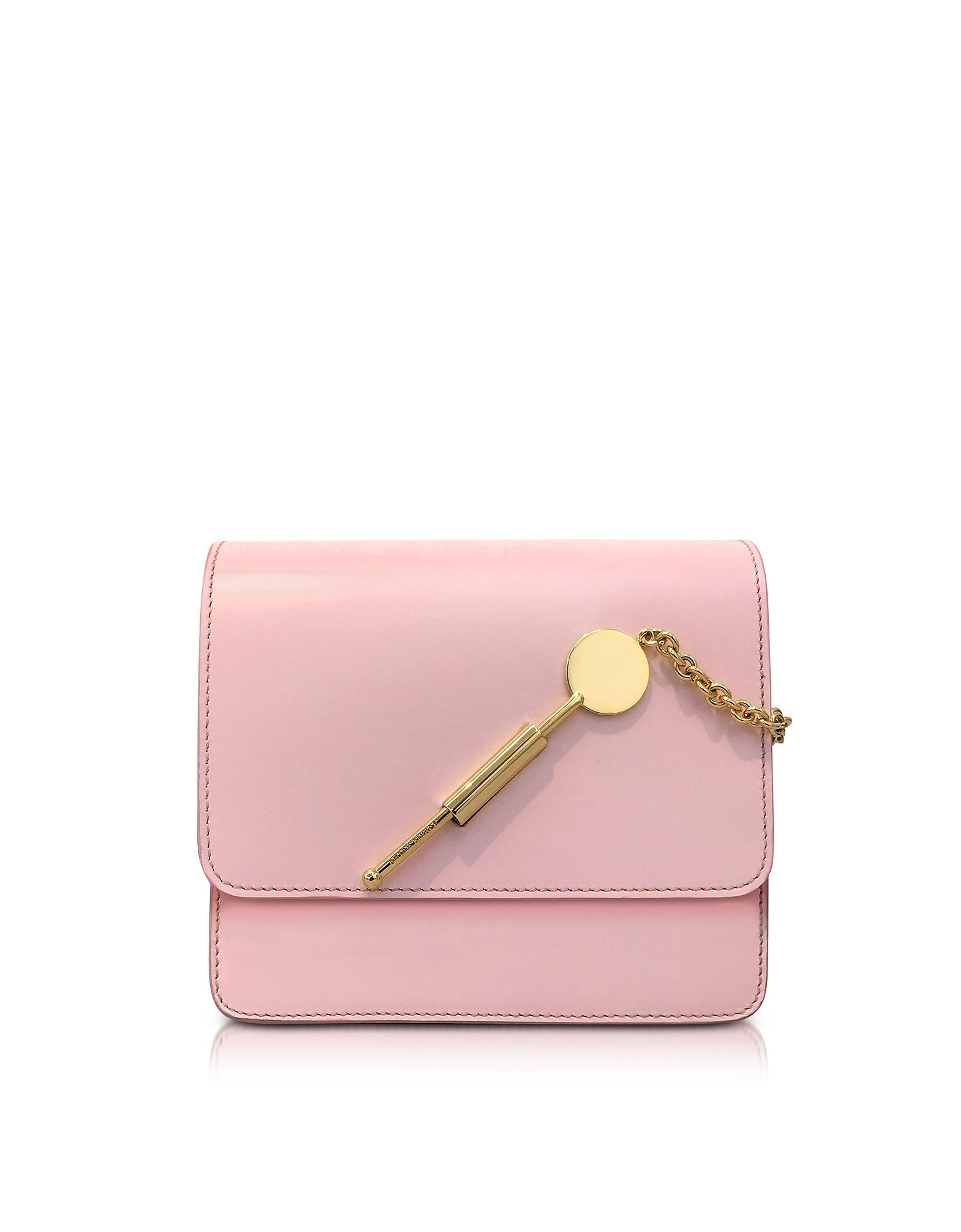 Sophie Hulme Pastel Pink Small Cocktail Stirrer Bag
