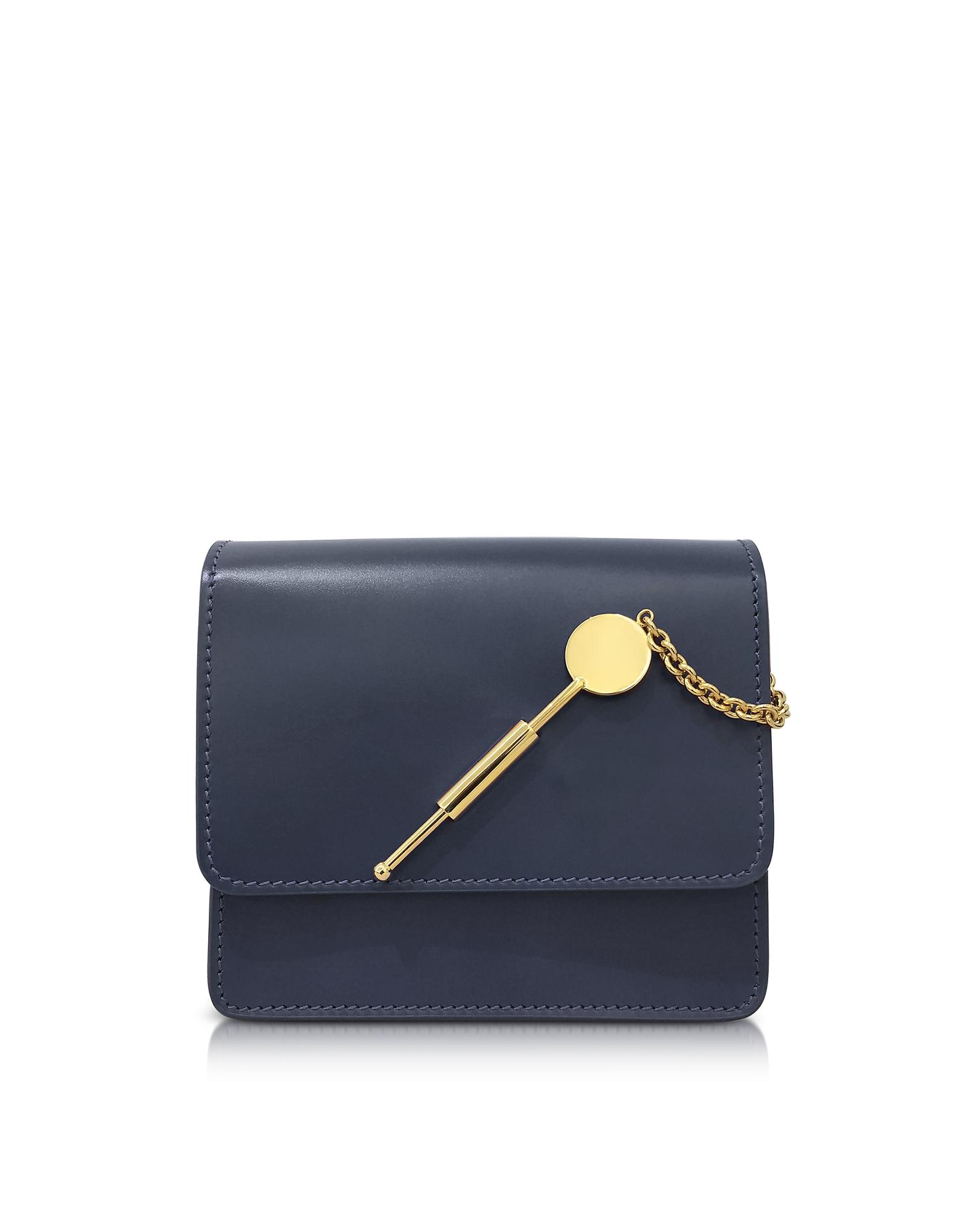 Фото Маленькая Темно-синяя Сумка с Палочкой для Коктейля. Купить с доставкой
