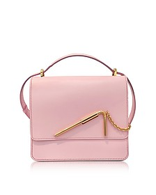 Pastel Pink Medium Straw Bag - Sophie Hulme